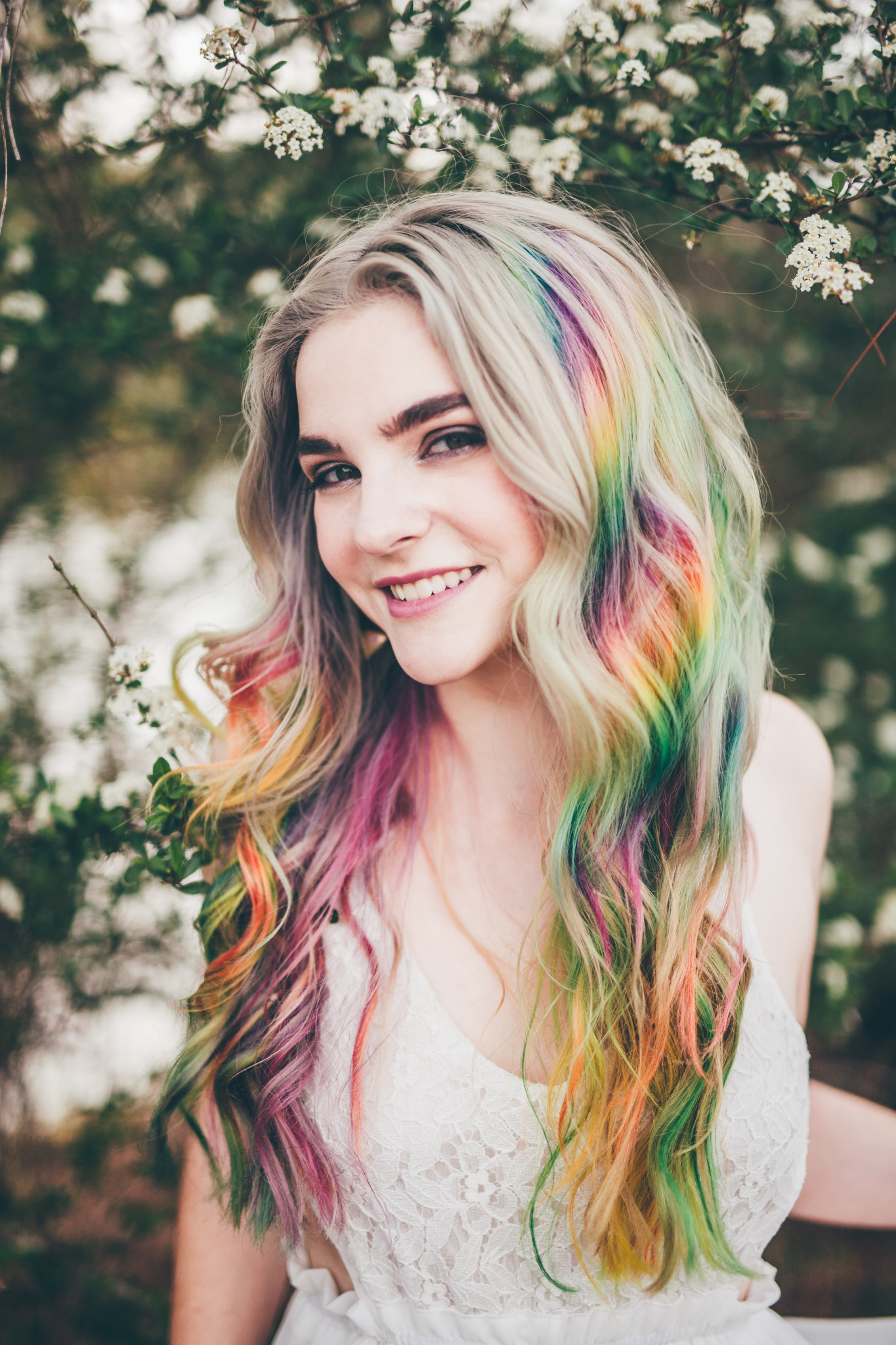rainbow hair ucf arboretum central florida wedding photographer