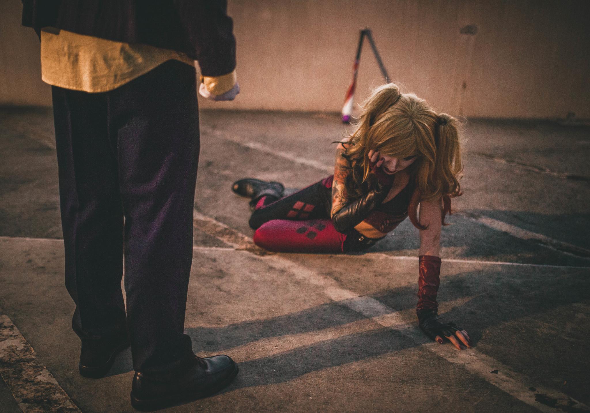 joker and harley shoot real relationship violence lauren rita photography